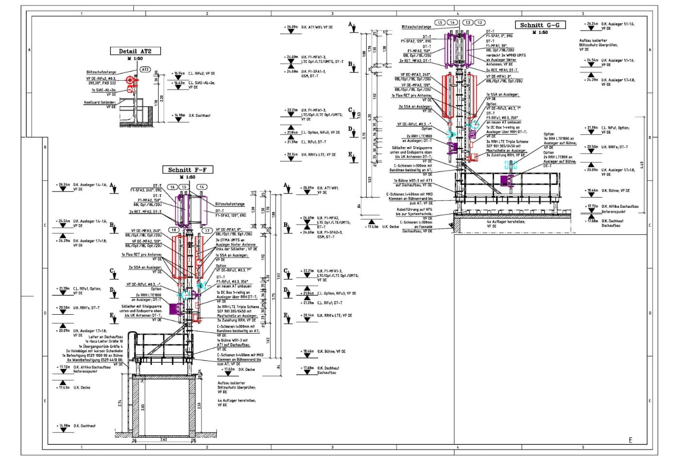 Planungsdetails eines Ingeneurs